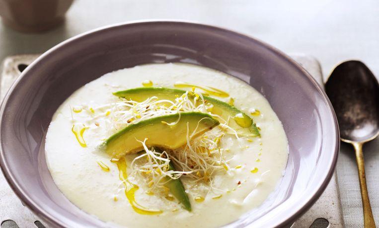 IJskoud de lekkerste: gazpacho met komkommer