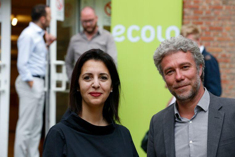 Ecolo-voorzitster Zakia Khattabi en Alain Maron.