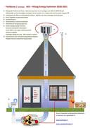 De generator (ventilator) kan op elke gewenste plek worden geplaatst. Ook in een kruipruimte of kelder.
