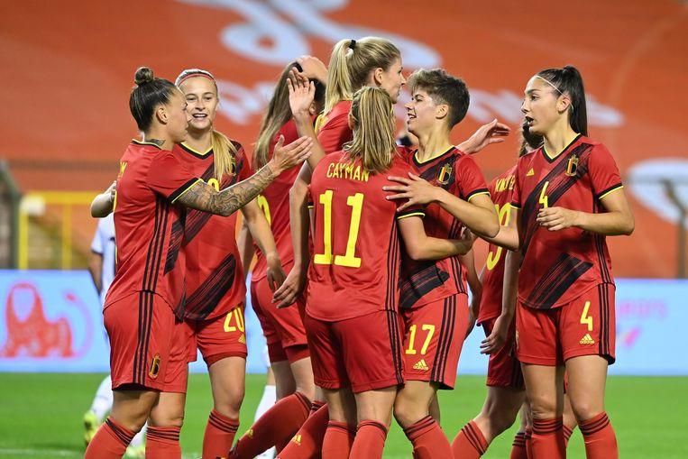 De Flames kenden geen genade: België - Albanië 7-0. Beeld Photo News