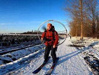 Vlamingen gaan skiën met paramotor