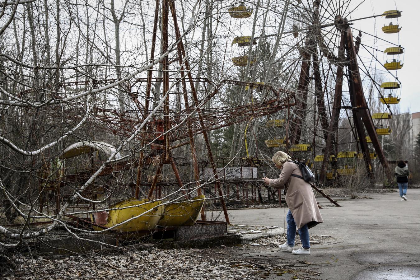 Pripjat ligt vlak bij Tsjernobyl en werd na de kernramp een spookstad omdat niemand er nog mocht wonen.