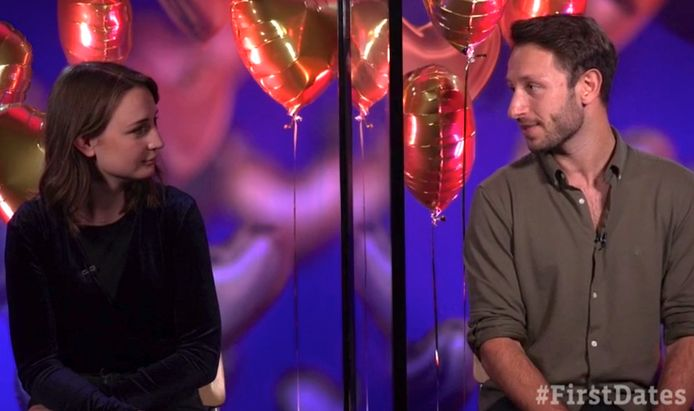 3FM-dj Sophie Hijlkema en haar date Sander.