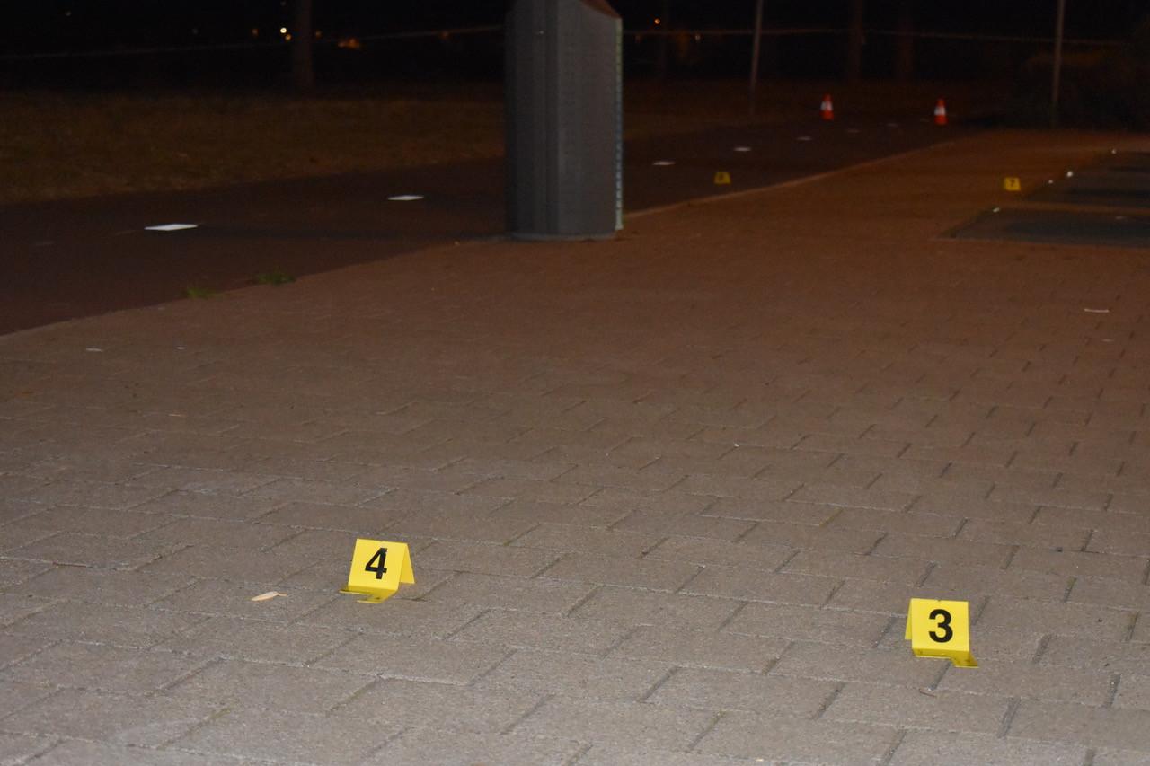 De politie vond sporen die wijzen op een schietpartij.