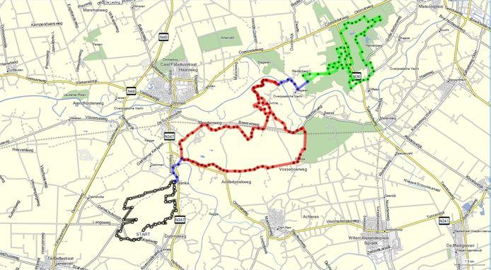 De MTB-routes Lemelerberg-Ommen-Hardenberg