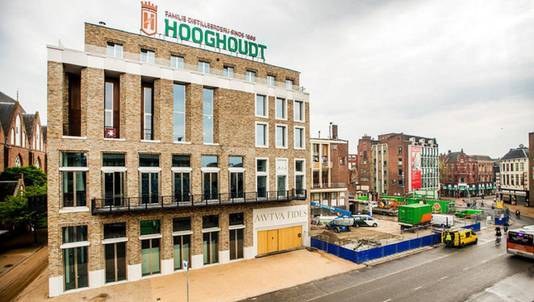 Het onderkomen van Vindicat aan de Grote Markt in Groningen