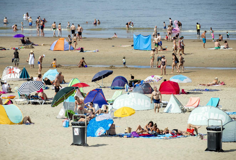 Het strand van Zandvoort, op een zonnige dag vorig jaar.