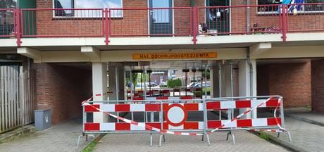 Schade aan ondergang Het Jannink na aanrijding in Goor