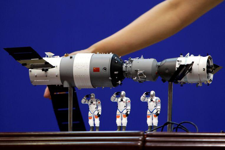 Een schaalmodel van het bewuste ruimtestation.
