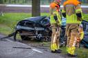 Auto-ongeluk in Nispen.