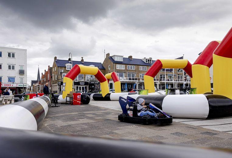 Een kinderracebaan op de boulevard van Zandvoort. Beeld ANP