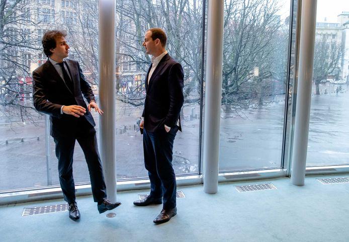 Jesse Klaver (GroenLinks) en Lodewijk Asscher (PvdA) in februari van dit jaar.