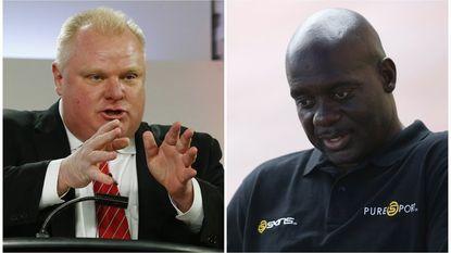 Doping-atleet Johnson helpt drugs-burgemeester Ford