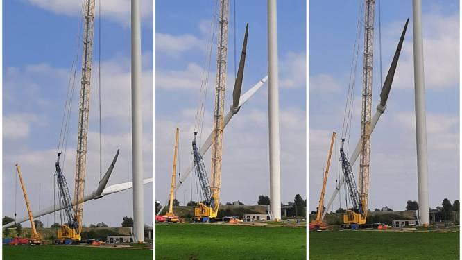 Het wiekenkruis hangt, op naar de volgende molen van  Windpark Bommelerwaard-A2