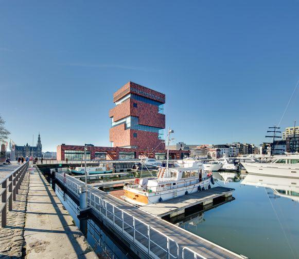 Uitzicht vanuit designhotel Eilandje in Antwerpen.