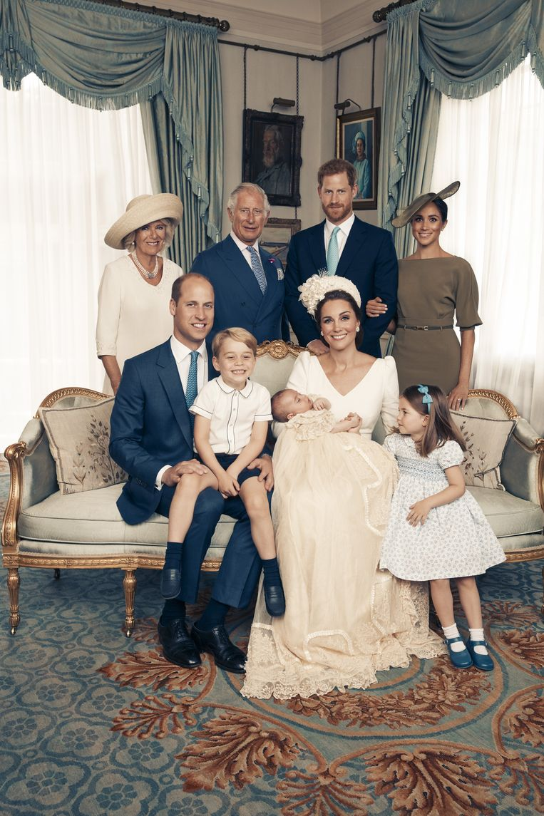 Familieportret bij het doopsel van prins Louis, 2018. Beeld Avalon.red