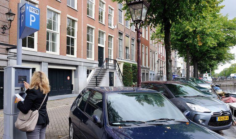 Parkeren in Amsterdam is het allerduurst. Beeld ANP