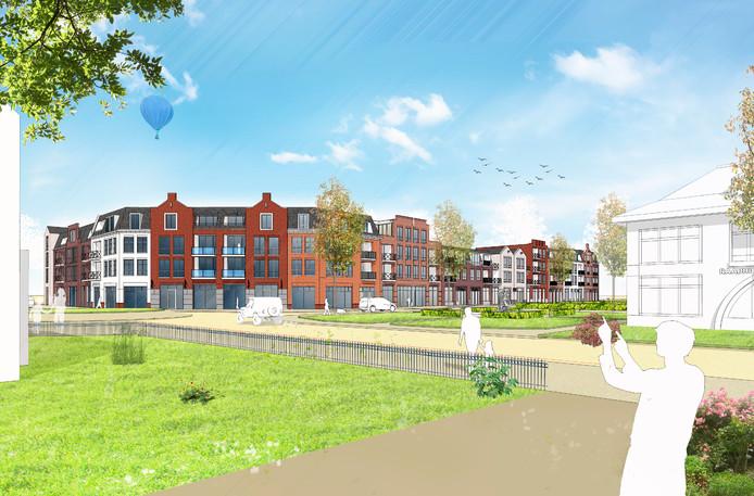 Zo zou het Sint Agathaplein in Boekel er in de toekomst uit kunnen gaan zien.