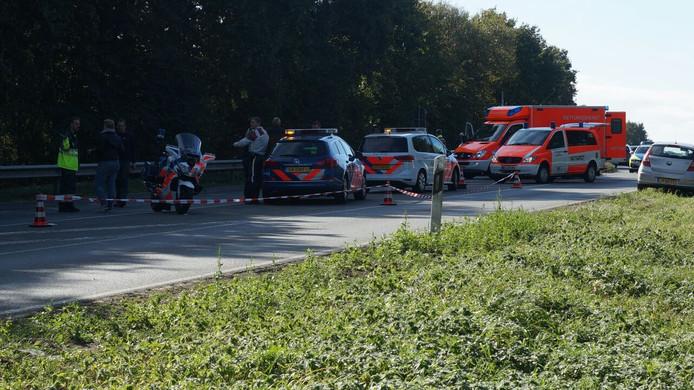 De B220 was vanwege het ongeluk geruime tijd afgesloten.