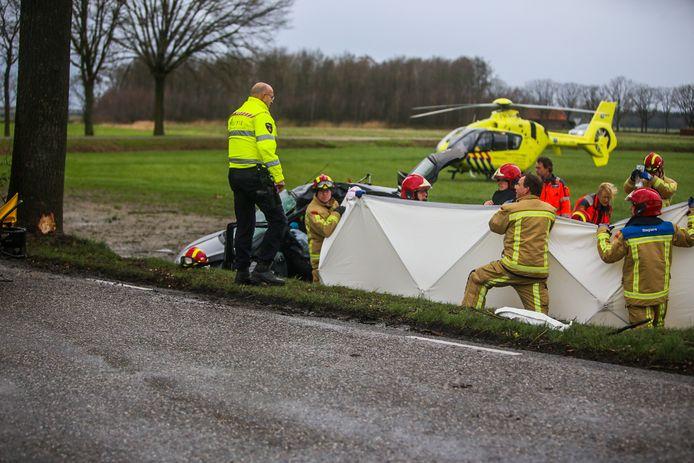 Vrouw zwaargewond bij ongeval op de Meijelseweg.