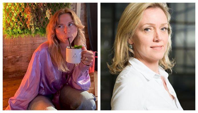 Links redactrice Marie, rechts detoxcoach Jacqueline Van Lieshout (foto door Merlijn Doomernik).