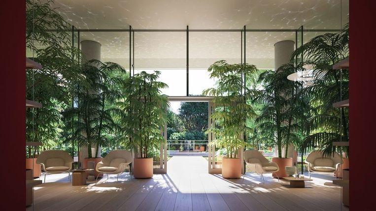 Een botanicus zorgt ook binnenin voor het nodige groen.