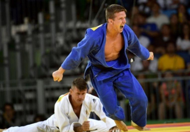 'Tijdens de bronzen kamp in Rio. 'Ik verdien niet meer door die medaille, hoor.' Beeld