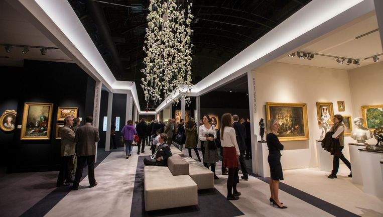 Tefaf in de Wade Thompson Drill Hall in New York. Beeld null