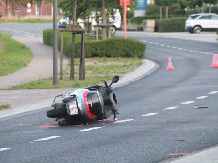 Het ongeval gebeurde in de Moeskroensesteenweg in Aalbeke.
