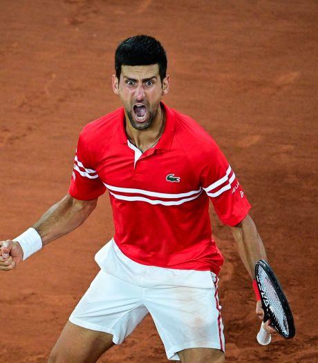 Cris, lancer de raquette et énorme soulagement: Djokovic se lâche complètement