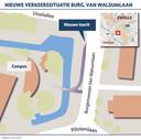De nieuwe verkeerssituatie aan de Burgemeester Van Walsumlaan