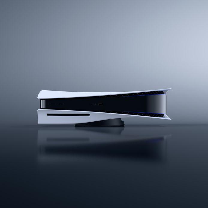 De PlayStation 5 in de horizontale positie.