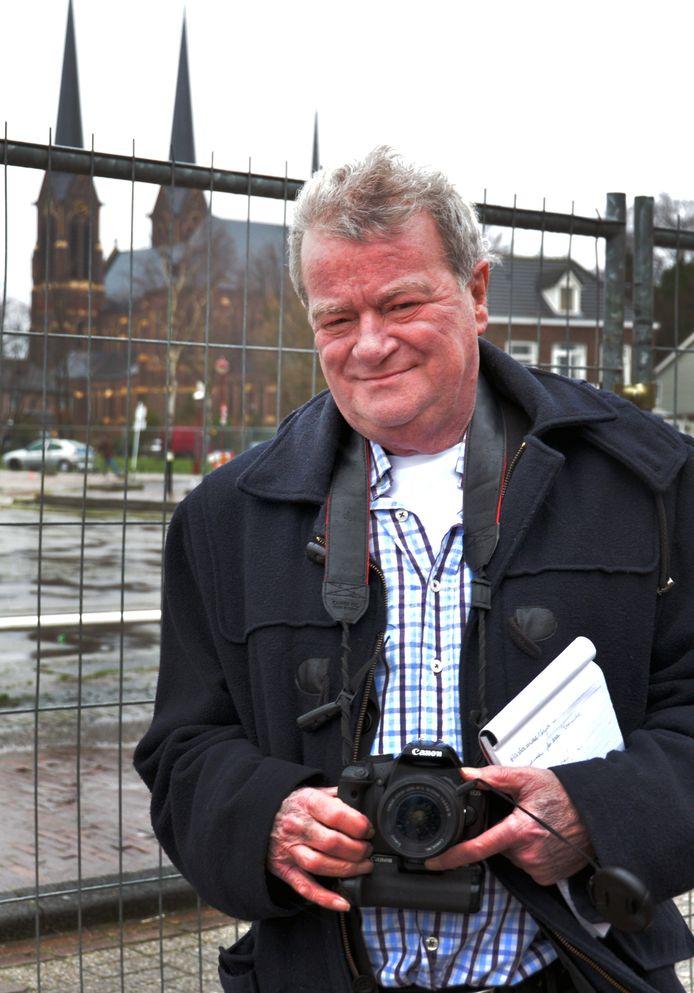 Jan in 't Groen op pad voor Brabants Dagblad in 'zijn' Kaatsheuvel.