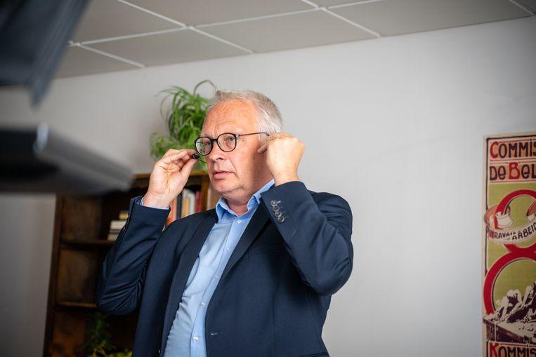 Peter Mertens, voorzitter van de PVDA: 'De rekening van de coronacrisis moet niet naar de coronahelden.' Beeld BELGA