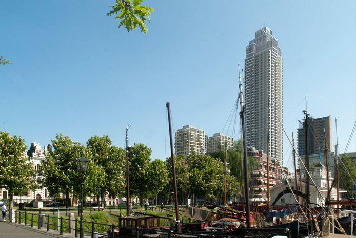 Zo zal de Zalmhaventoren in de stad te zien zijn.