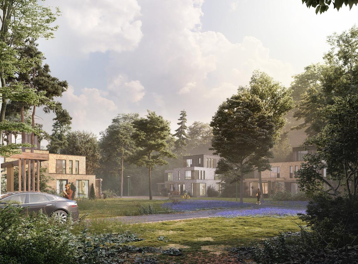 Het bouwplan Imbospark van Klaassen/BPD uit 2017. Dit gaat niet meer door. Er moet een nieuw plan worden gemaakt, maar Klaasen/BPD mag wel optreden als bouwer.