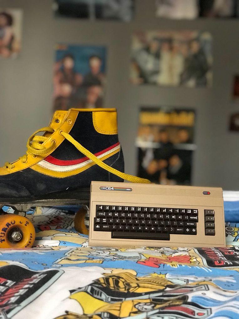 Zo 'mini' is dus The C64 Mini, een heruitgave van de klassieke huiscomputer uit de vroege jaren 80. Beeld Koch Media
