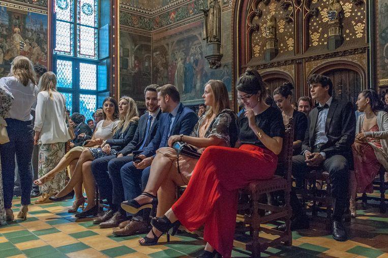 Studenten aan het College of Europe komen uit heel Europa en ver daarbuiten, en moeten eerst een strenge voorselectie doorstaan. Beeld RV College of Europe