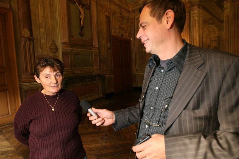 Thierry Geys interviewt Christiane Matthijs.