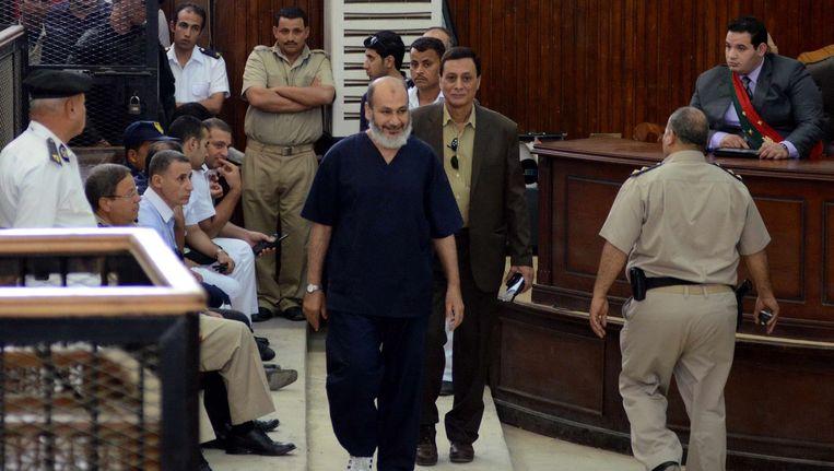 Moslimbroeder Safwat Hegazy op het proces Beeld AFP