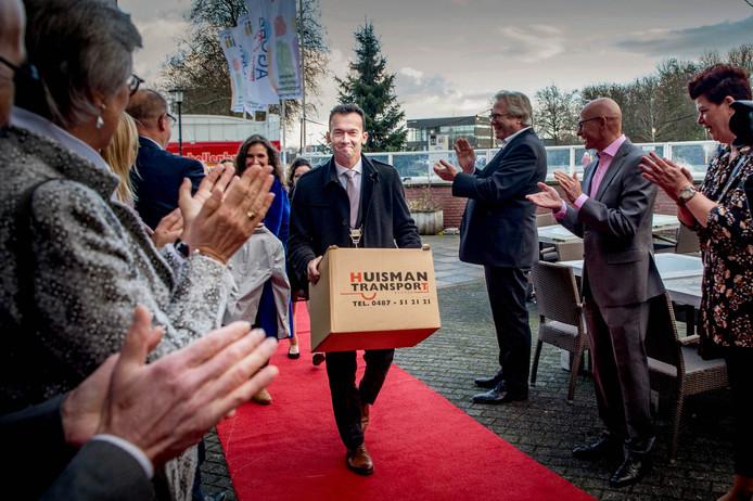 Lucien van Riswijk tijdens zijn afscheid in Druten.