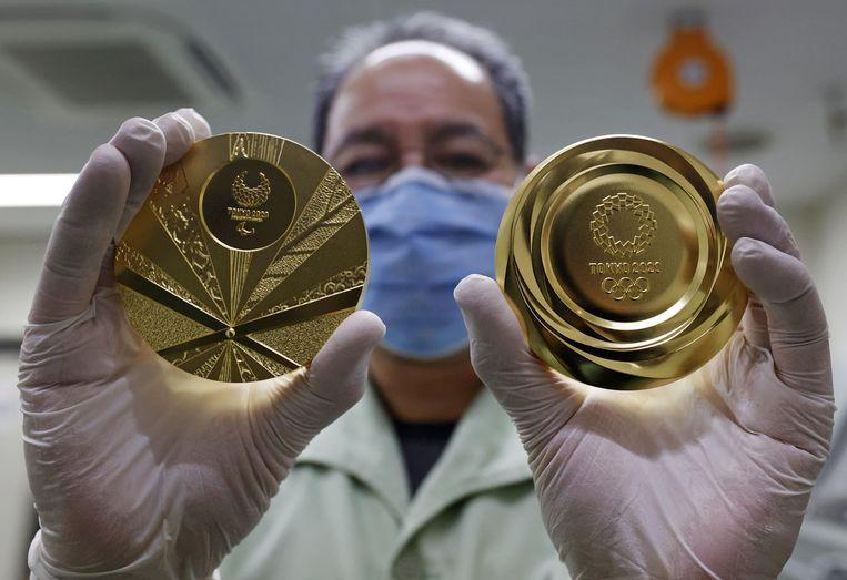 De gouden medailles voor de Olympische Spelen 2020. Beeld Reuters