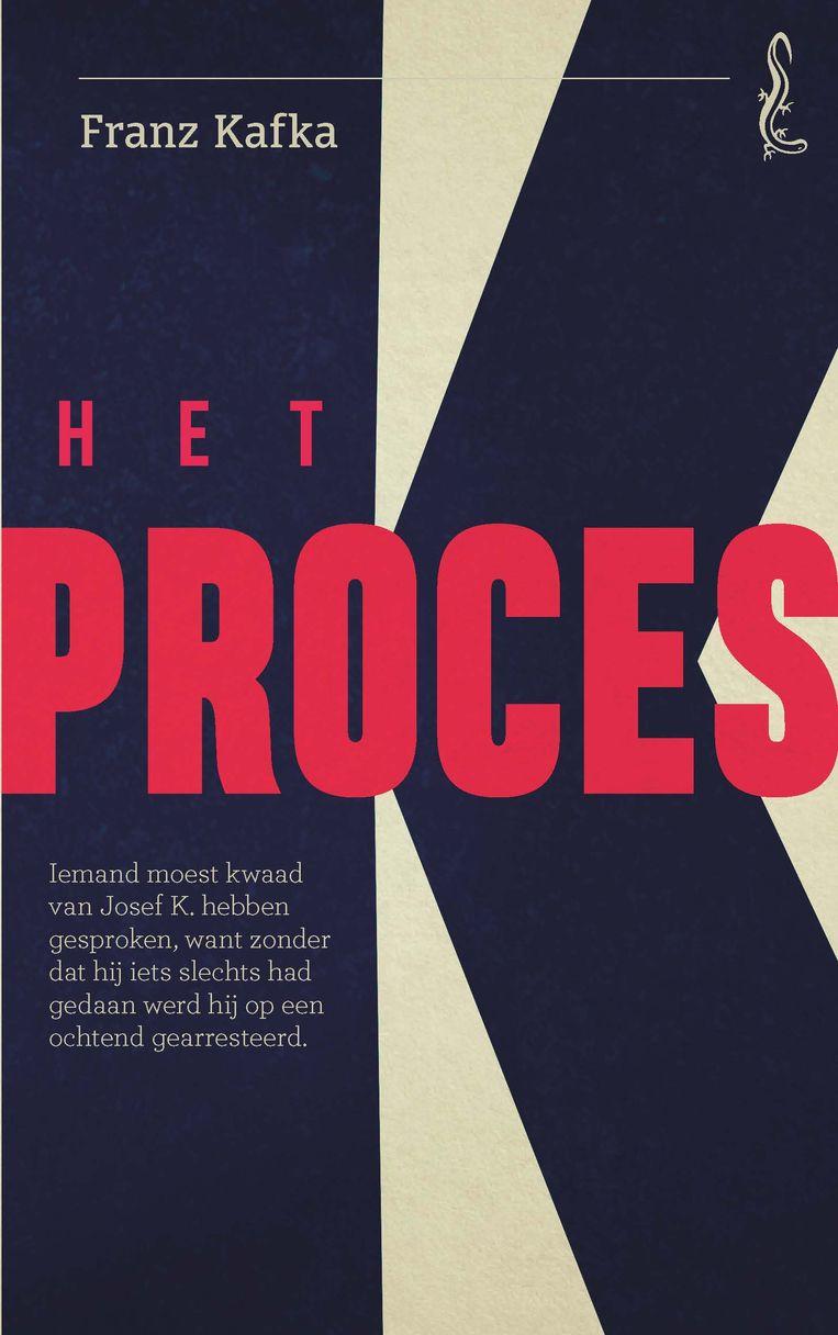 Franz Kafka: Het proces. Omslagontwerp Sander Patelski. Beeld Singel Uitgeverijen