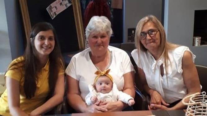 Jill bezorgt overgrootmoeder Rosa Raspoet eerste viergeslacht