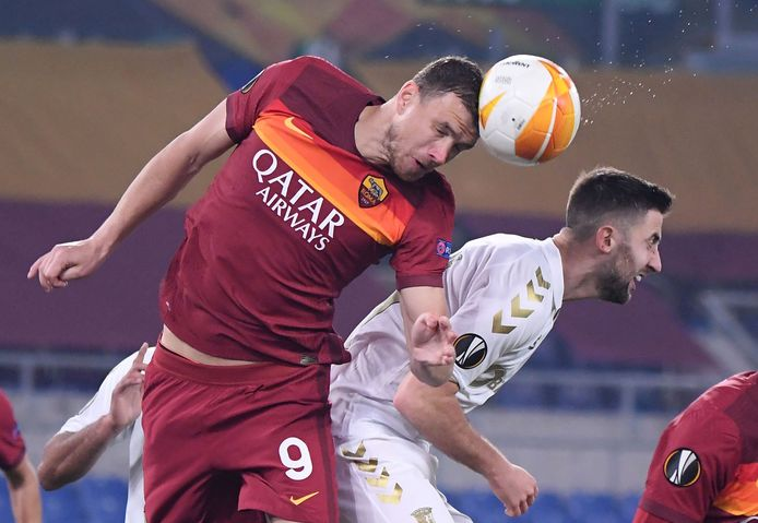 Edin Dzeko in actie namens AS Roma.