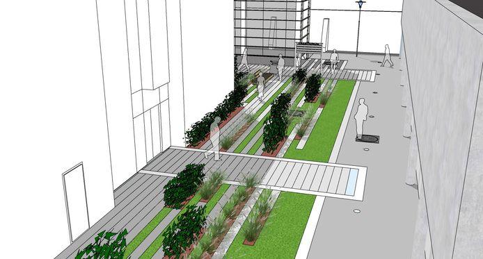 Het administratief centrum Praetorium en het Kannunikenhuis worden vanaf volgende week een pak groener.