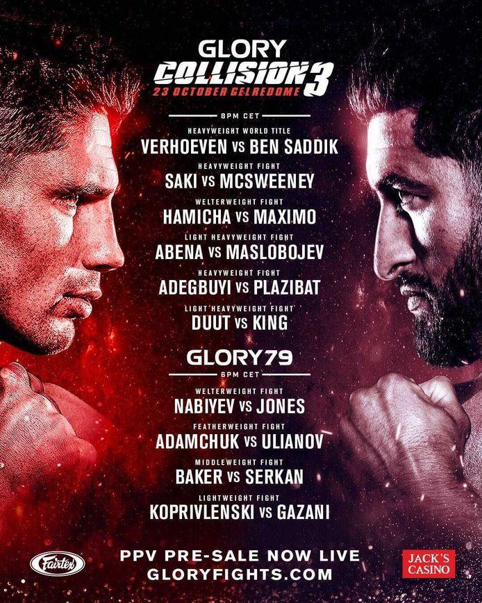 De poster voor Glory Collission 3