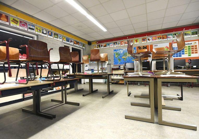 Lege klaslokalen. Beeld ANP