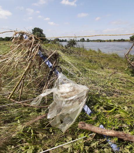 Hoogwater-troep blijft hangen in Limburg