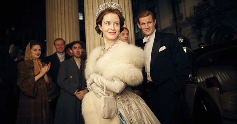 Claire Foy in The Crown. Beeld
